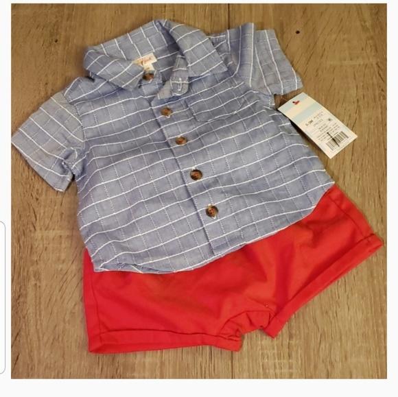 Cat & Jack Other - $5 ADD TO BUNDLE! Button Shirt & Shorts Set